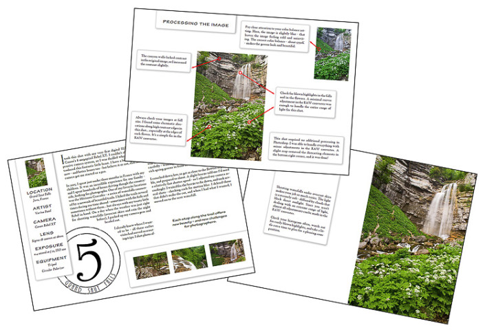How to photograph waterfalls ebook sample page