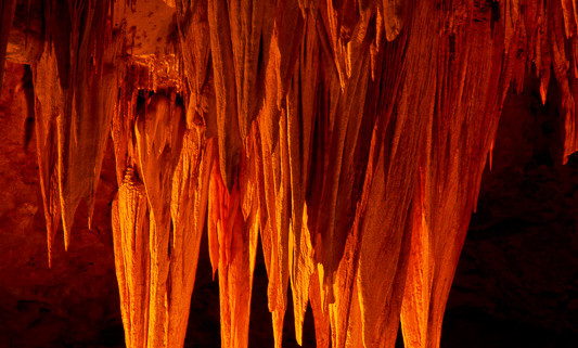 The Stalactite Chandelier in Carlsbad Caverns National Park, New Mexico by Anne McKinnell